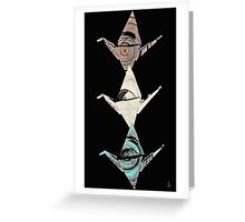 Three Cranes Greeting Card