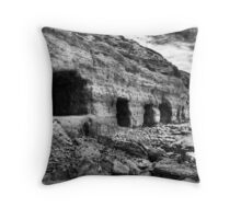 Boat caves. Throw Pillow