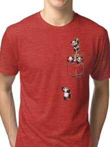 POCKET PANDAS Tri-blend T-Shirt