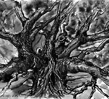 The darkened Tree by serely