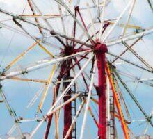Ferris Wheel Against Blue Sky Sticker