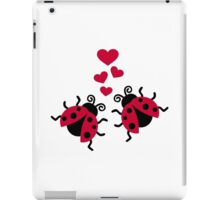 Ladybugs in love hearts iPad Case/Skin