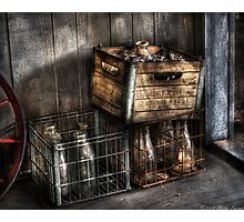 Bottles in Boxes Photographic Print