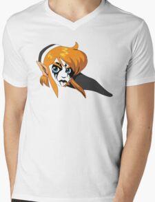 Black Metal Link Mens V-Neck T-Shirt