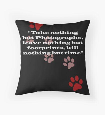 Only Footprints Throw Pillow