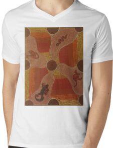 Aboriginal Animals Mens V-Neck T-Shirt