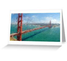 Triangular Golden Gate Greeting Card