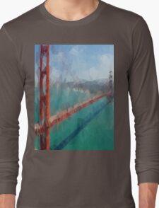 Triangular Golden Gate Long Sleeve T-Shirt