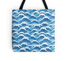 sea wave pattern Tote Bag