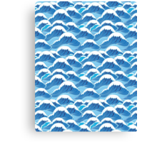 sea wave pattern Canvas Print