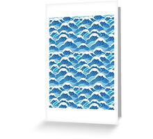 sea wave pattern Greeting Card