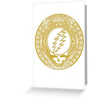Mayan Calendar Steal Your Face - GOLD Greeting Card