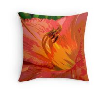 Day Lily Glow Throw Pillow