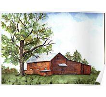 North Carolina Rural Barn Poster