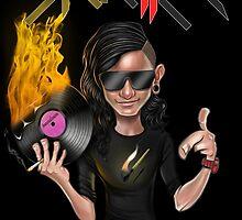 SKRILLEX (black background) by LEADERSofEDM