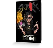 SKRILLEX (black background) Greeting Card