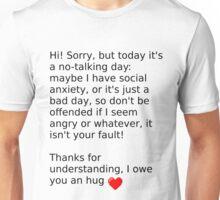 No-Talking Day Unisex T-Shirt
