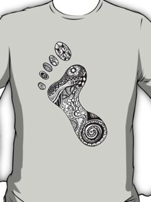 Psychedelic footprint  T-Shirt