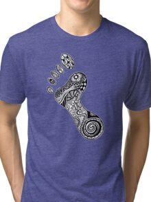 Psychedelic footprint  Tri-blend T-Shirt