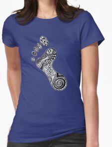 Psychedelic footprint  Womens Fitted T-Shirt
