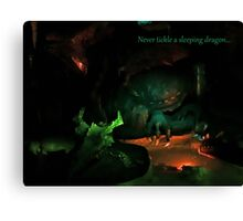 Never Tickle A Sleeping Dragon Canvas Print