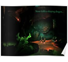 Never Tickle A Sleeping Dragon Poster
