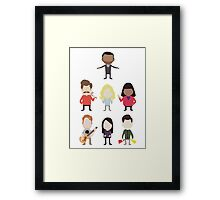 The Parks and Rec Crew - Big Framed Print