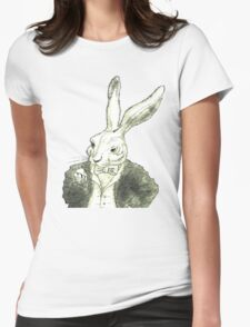 Rabbit and His Golden Watch Womens Fitted T-Shirt