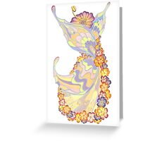 Spring fantasy Butterfly-flower Greeting Card