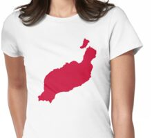 Lanzarote map Womens Fitted T-Shirt