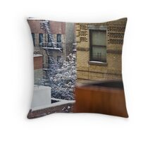 City Snowfall Throw Pillow