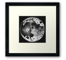 Woman in the Moon Framed Print