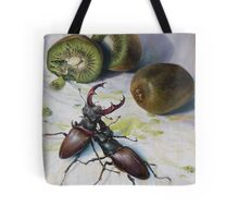 """"""" Kiwis and Stag Beetles ( Struggle for Constancy)"""" Tote Bag"""