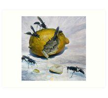 Lemon and Mud Daubers Art Print