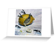Lemon and Mud Daubers Greeting Card
