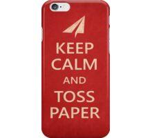 Keep Calm Paper Airplane 21b iPhone Case/Skin