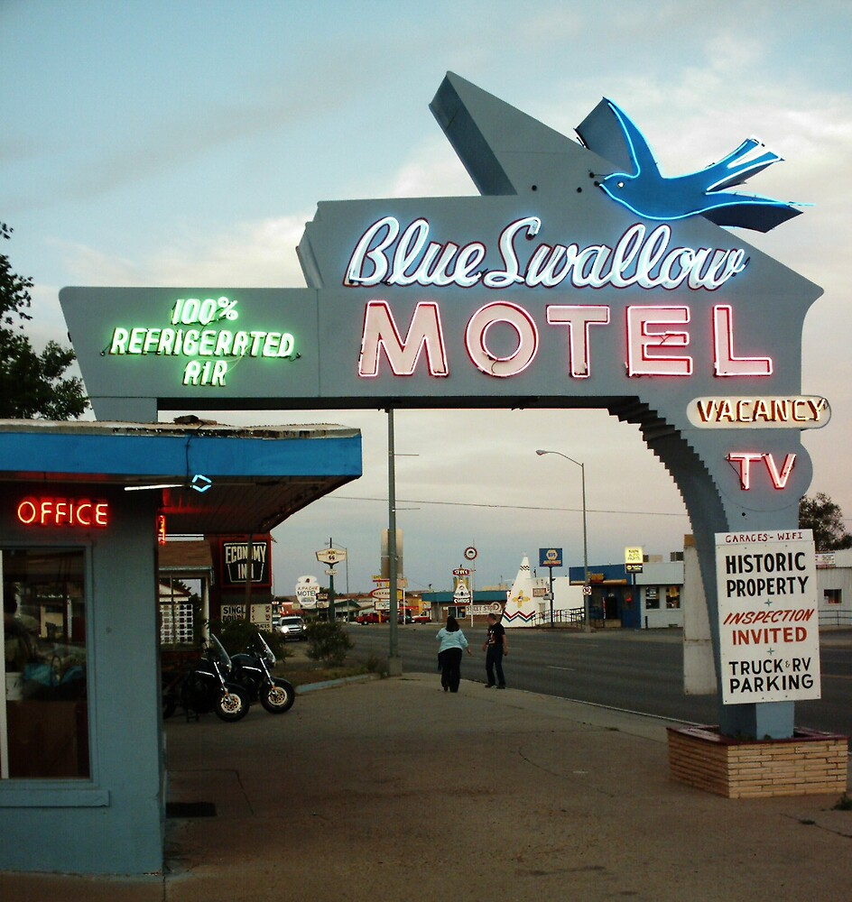 Blue Swallow Motel Dusk Tucumcari by Paul Butler