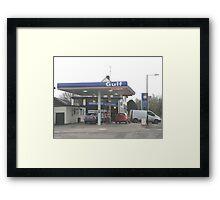 Central Garage Framed Print