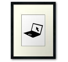 Notebook laptop mouse cursor Framed Print