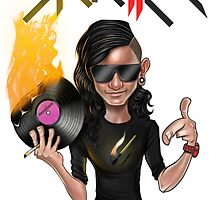 SKRILLEX (clear background) by LEADERSofEDM