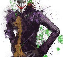 """The Joker"" Splatter Art by KYCollectibles"
