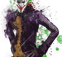 """The Joker"" Splatter Art by KYCollectibles"