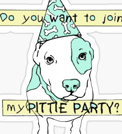 Pittie Party Sticker