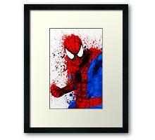 """""""Spider-Man"""" Splatter ARt Framed Print"""