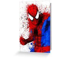"""Spider-Man"" Splatter ARt Greeting Card"
