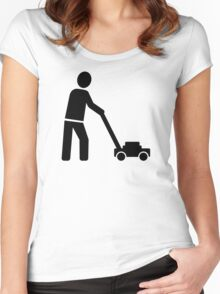 Lawn mower Women's Fitted Scoop T-Shirt
