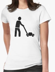 Lawn mower Womens Fitted T-Shirt
