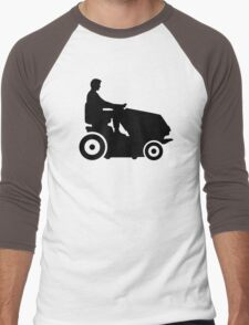 Lawn mower driver Men's Baseball ¾ T-Shirt