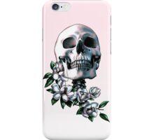 Skull & Magnolia Flowers iPhone Case/Skin
