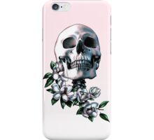 Skull & Magnolia Flowers iPhone Case/Skin